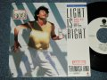 "日野皓正 TERUMASA HINO - ライト・イズ・ライト LIGHT IS RIGHT (Ex+/MINT-) / 1987 JAPAN ORIGINAL ""WHITE LABEL PROMO"" Used 7"" Single"