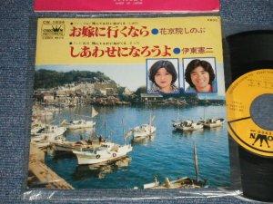 """画像1: A) 花京院しのぶ - お嫁に行くなら  : B) 伊東憲二 - しあわせになろうよ (MINT-/Ex+++) / 1980 JAPAN ORIGINAL Used 7"""" Single"""