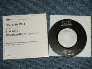 """画像1: GRAPEVINE グレイプバイン - スロウ (MINT-/MINT) / 1999  JAPAN ORIGINAL """"PROMO ONLY"""" Used CD Single"""