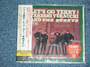 """画像1: 寺内タケシとバニーズ  TAKESHI 'TERRY' TERAUCHI & BNNNYS -  バニーズ誕生~レッツ・ゴー!寺内タケシ BUNNYS LET'S GO TERRY!  (SEALED)  /  2010 JAPAN """"BRAND NEW FACTORY SEALED未開封新品""""  CD"""