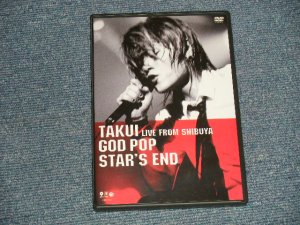 画像1:  TAKUI 中島卓偉 - GOD POP STAR'S END (MINT/MINT) / 2003 JAPAN ORIGINAL Used DVD