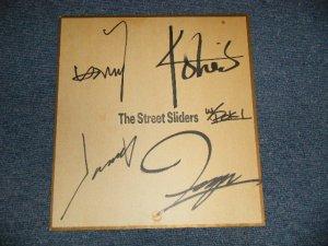 画像1: THE STREET SLIDERS ストリート・スライダーズwith POKI - 直筆サイン入り色紙 / 1984? JAPAN ORIGINAL Used サイン色紙
