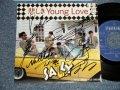 """サリー SALLY - A)悲しきYOUNG LOVE  B)SWEET OLD DREAM (MINT/MINT)  / 1984 JAPAN ORIGINAL  AUTOGRAPHED/SIGNED"""" Used 7"""" Single"""